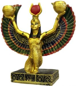 Egyptian~Candle Holder Isis Ancient Egyptian Goddess~Folio Gothic Hippy AWEG-09